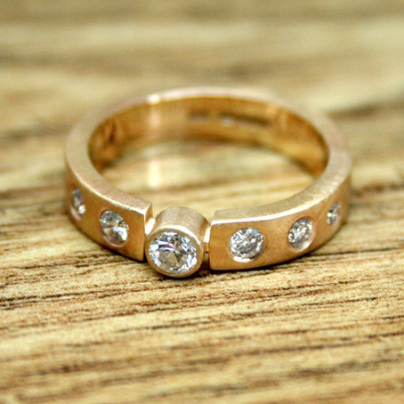 Remodelling Commission: Recycled Gold Diamond Ring