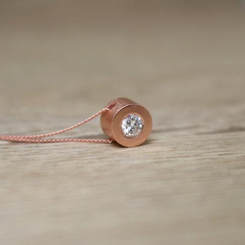 Rose Gold Diamond Pendant - Simplicity Collection