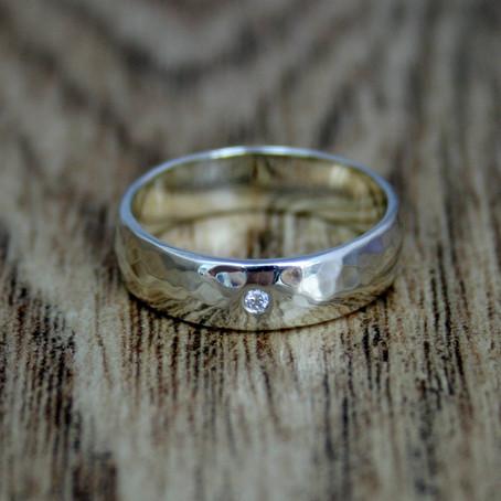 Textured Gold Wedding Bands