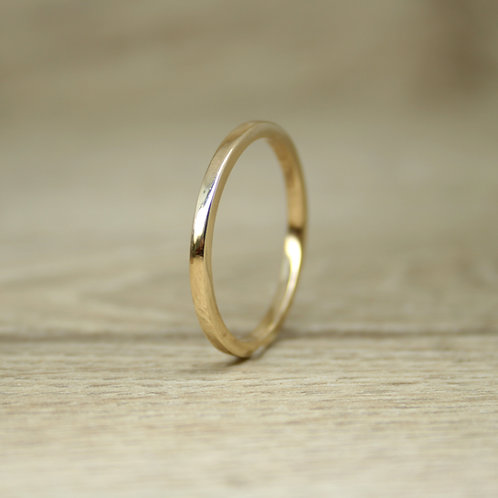14ct Gold Skinny Stacking Ring - Simplicity Collection