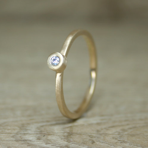 Skinny Gold Moissanite Ring - Simplicity Collection
