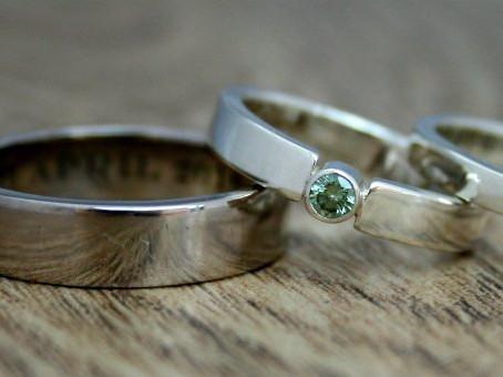 Green Diamond Fairtrade Gold Rings