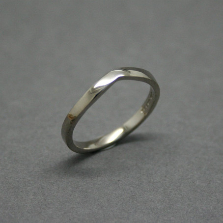 Commission: Wishbone Shaped 18ct White Gold Wedding Band