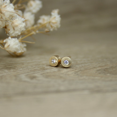 Gold Moissanite Earrings - Simplicity Collection