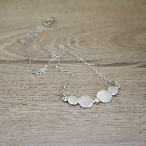 Silver and Gold Disc Necklace