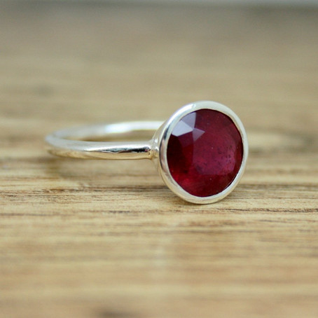 Commission: Silver Ruby Ring