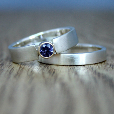 Spinel Engagement & Wedding Rings