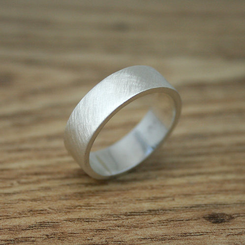 6mm Wide White Gold Wedding Band