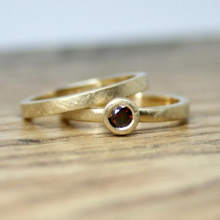 Cherry Diamond Simplicity Ring