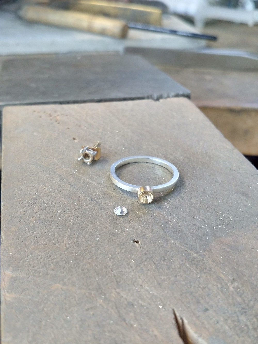 Jewellery workbench - remodelling ring