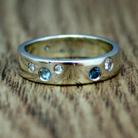 Topaz & Diamond Wedding Ring