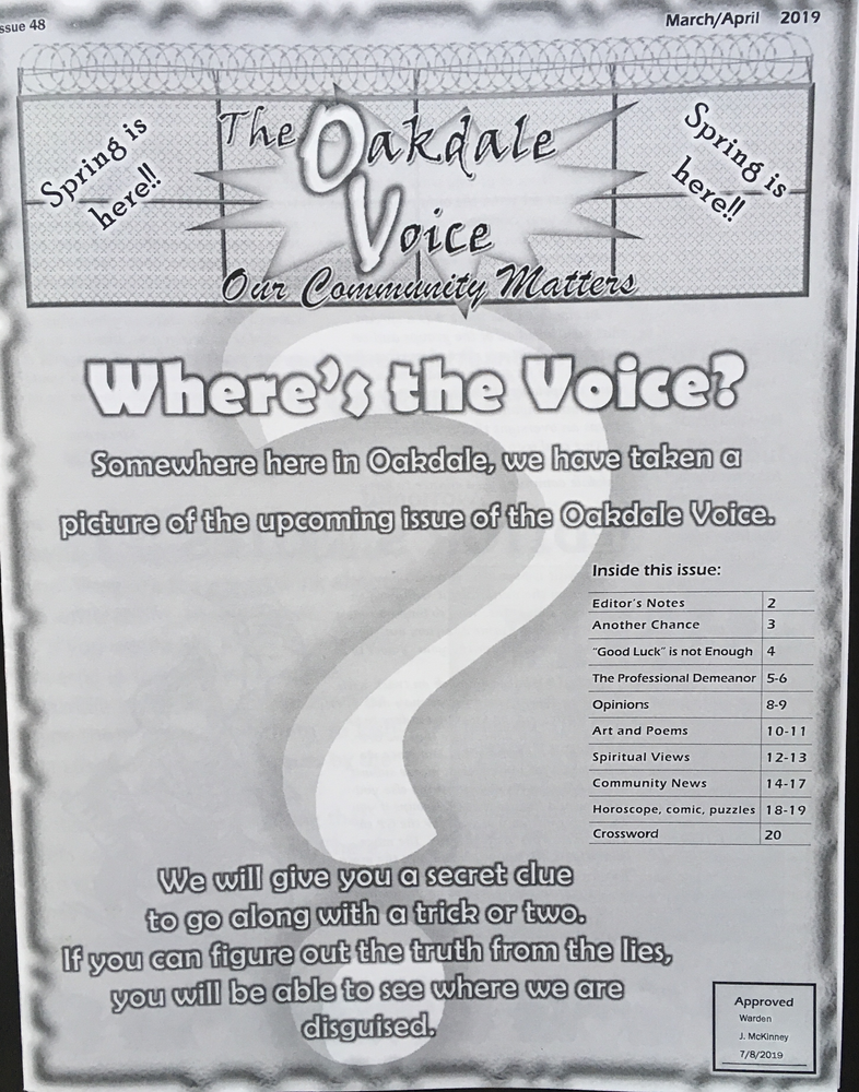 Oakdale Voice highlights LBTB Reentry Resource Guide