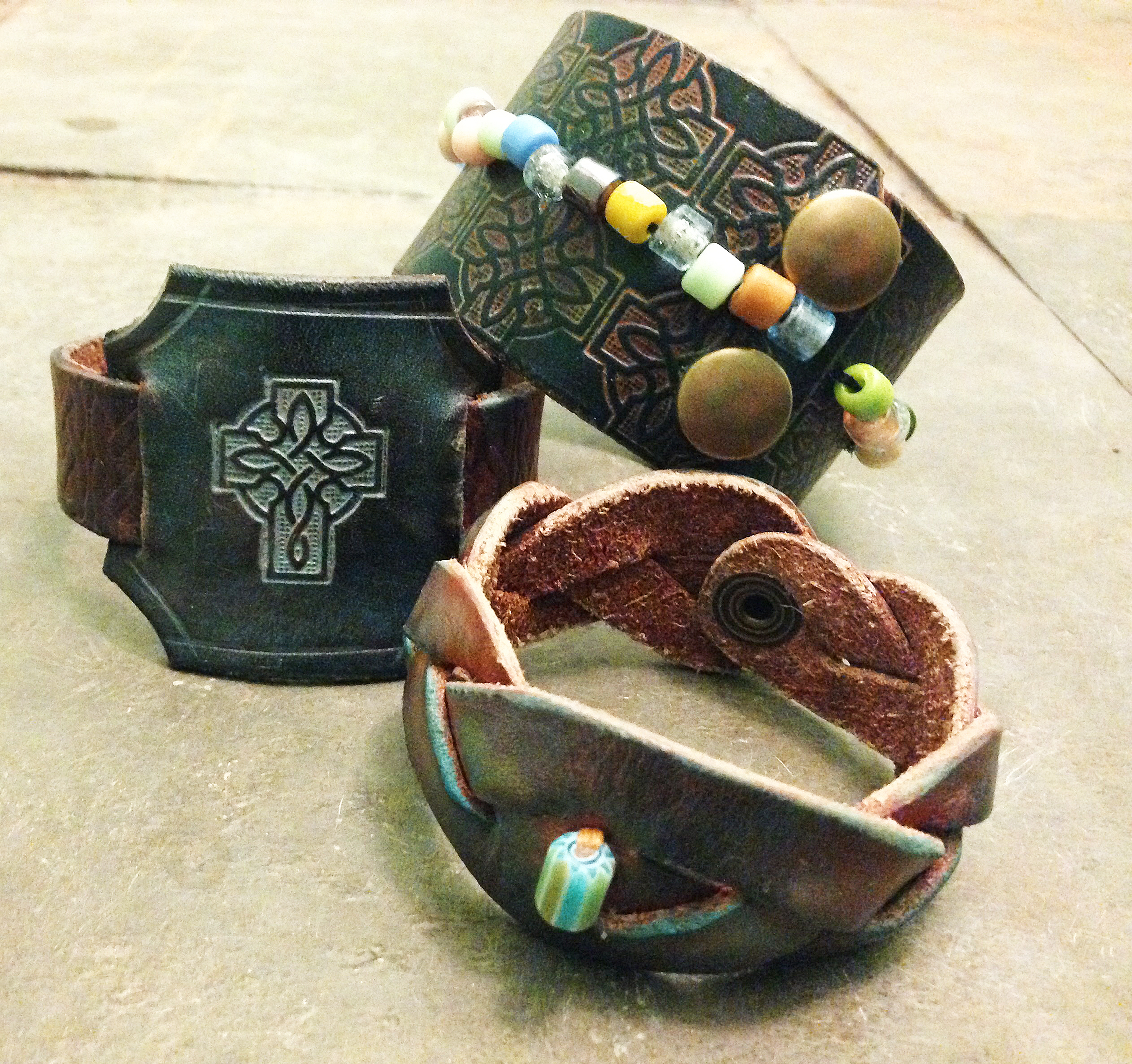 new leather cuffs and bracelets