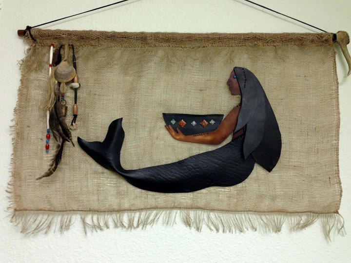 Mixed Media Mermaid Hanging