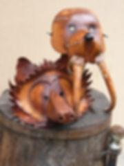 Leather Sculpture Art