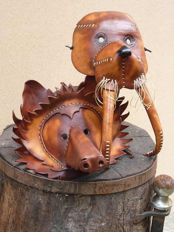 Leather Sculpture Art