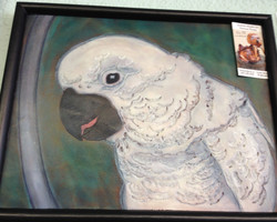 Leather Painting Parrot