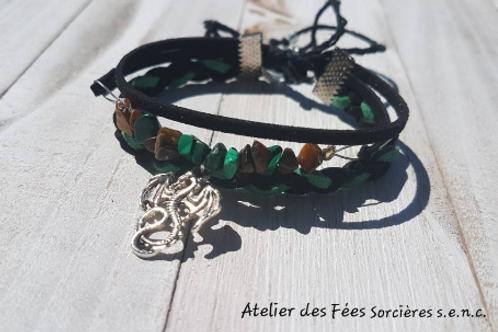 Bracelet talisman païen pour la prospérité, l'abondance et la chance.