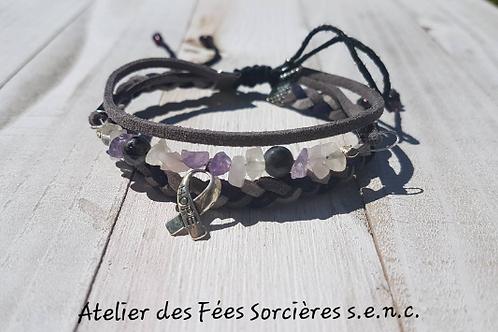 Bracelet talisman païen pour la santé, la guérison et aider lors de cancers