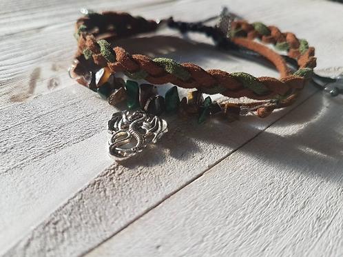 Bracelet talisman païen pour la prospérité, l'abondance et la chance