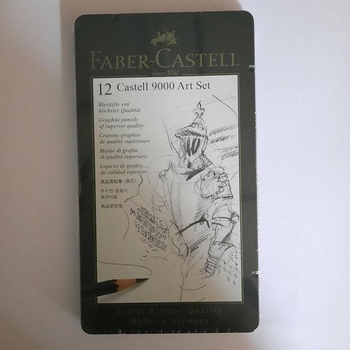 Faber-Castell סט 12 עפרונות רישום