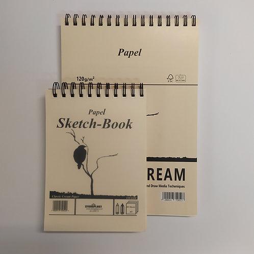 בלוק רישום (ציפור) – נייר קרם 120 גר' 80 דפים - ספירלה