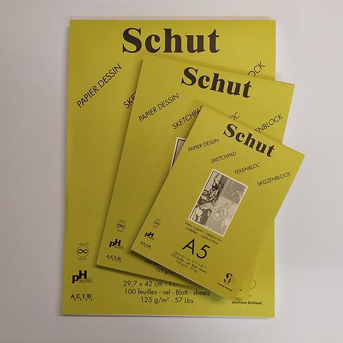 Schut בלוק 125 גר' 100 דפים