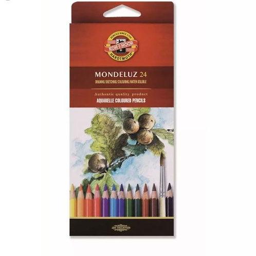 KOU-I-NOOR Mondeluz סט 24 עפרונות מים
