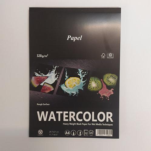Watercolor 'בלוק נייר שחור 320 גר