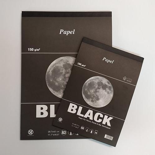 בלוק נייר שחור 150 גר' 50 דפים