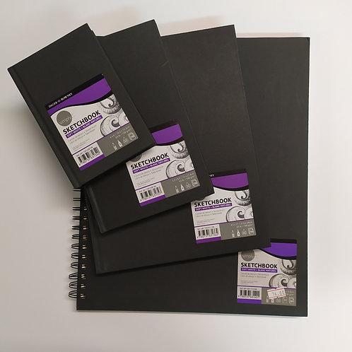 Daler Rowney ספר סקיצה שחור, נייר 100 גר' אופוויט