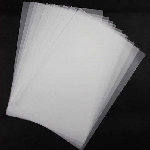 עשר יח' נייר פרגמנט דק 50 גרם