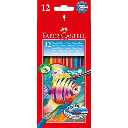 Faber-Castell סט 12 עפרונות מים