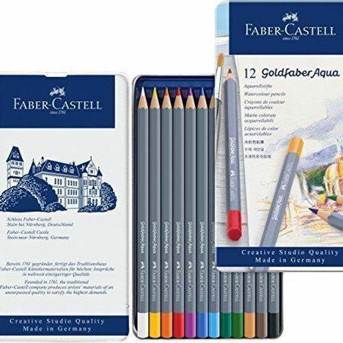 Faber-Castell Goldfafer Aqua סט 12 עפרונות מים