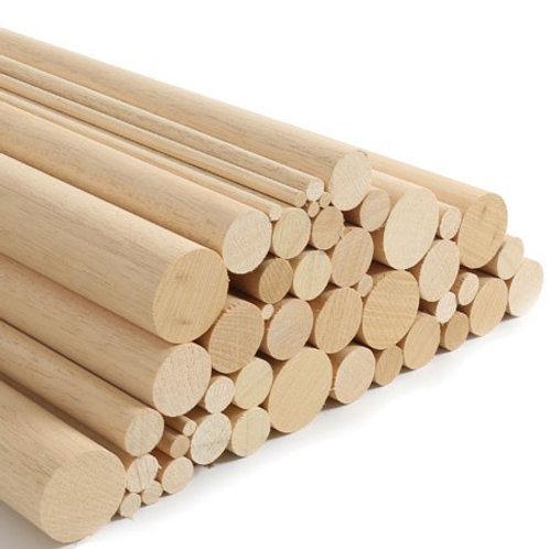מוטות עץ עגולים 1 מטר