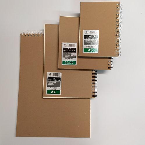 ספר סקיצה נייר עבה אופוויט עם טקסטורה 200 גר' מתאים גם לצבעי מיים