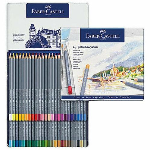 Faber-Castell Goldfafer Aqua סט 24 עפרונות מים