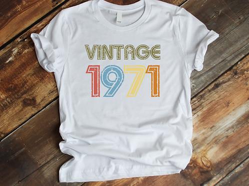 Retro Vintage Birthday t-shirt
