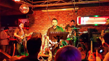 O. Canatan and Onur Ozkoc on stage, performing with Dreamtone friends for fun - 2013