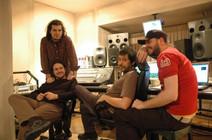 O. Canatan and Onur Ozkoc with the award winning producer Alp Turac and Berk Kula