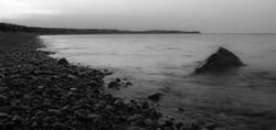plymouth coast at dusk