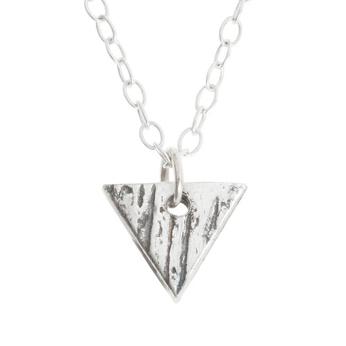 Buried Silver Triangle Pendant