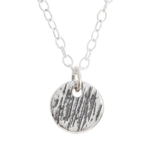 Buried Silver Cirlce Pendant