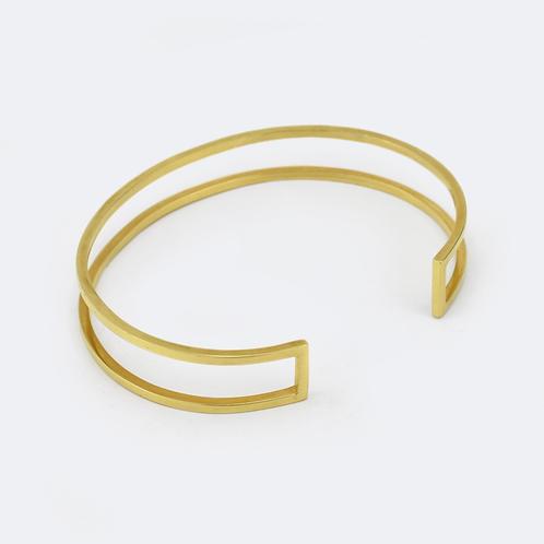 Pillars Cuff Gold