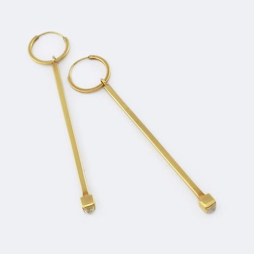 Obelisk Earrings Gold