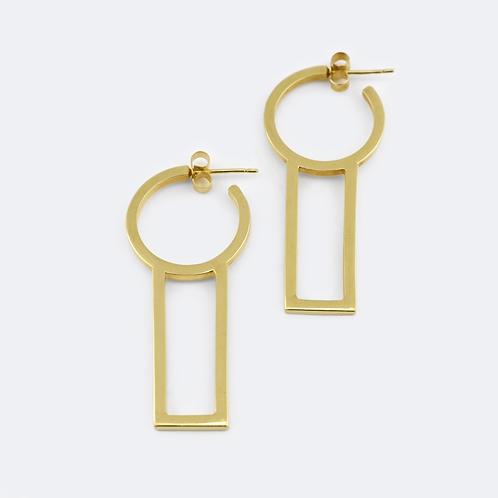 Pillars Earrings Gold