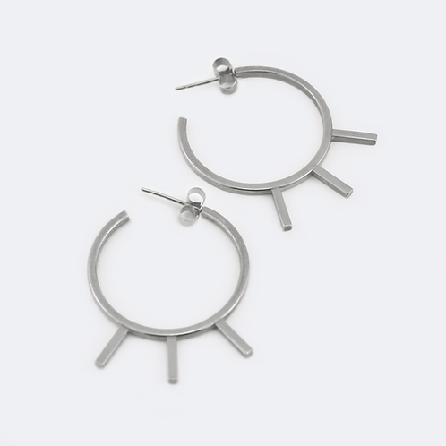 Ray Hoops Silver