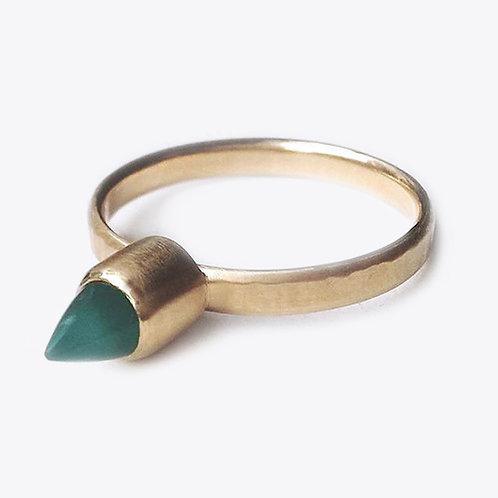 Agate Bullet Ring