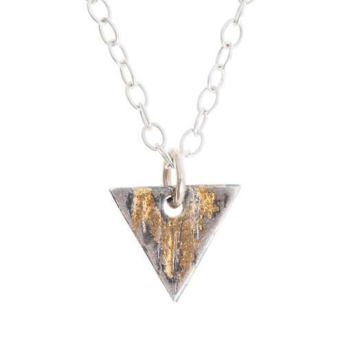 Buried Gold Triangle Pendant