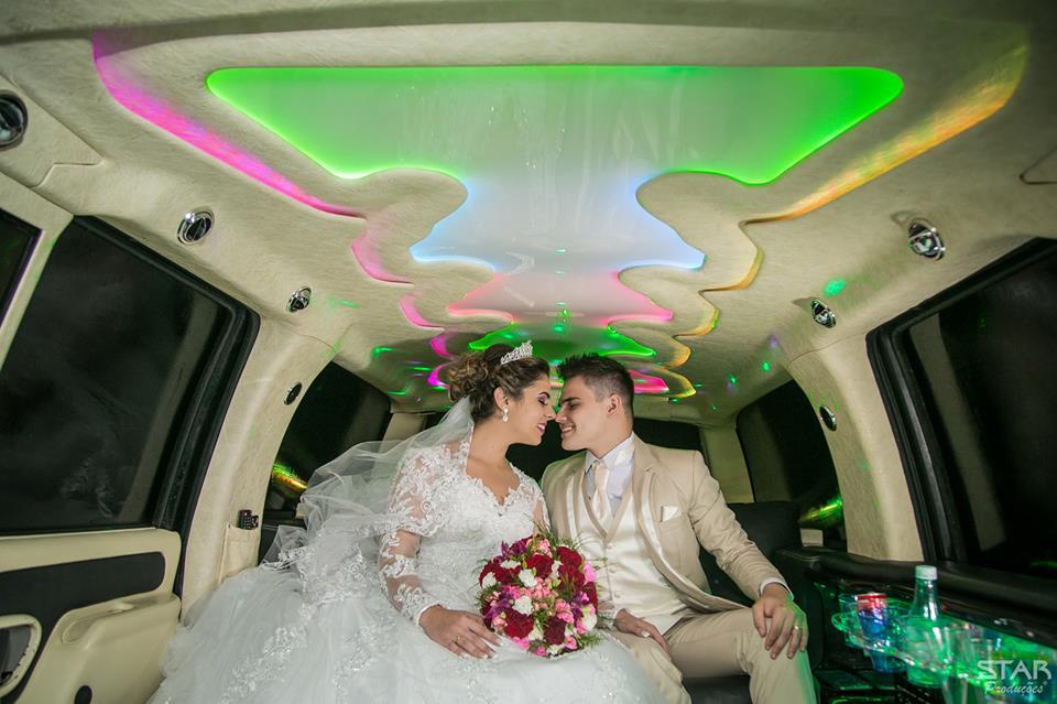 Casamento na limousine